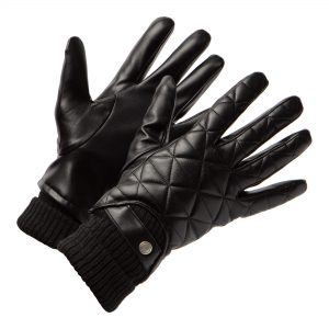 Men's leather gloves with motif