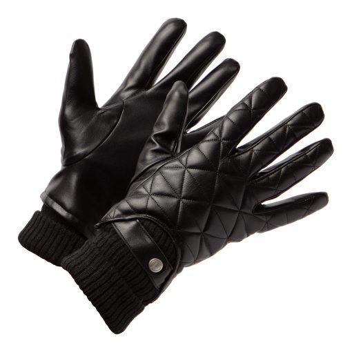 Leren Heren handschoenen met motief